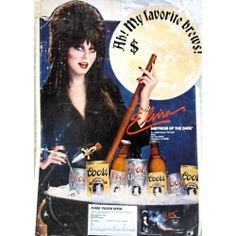 Vintage Elvira Mistress of the Dark Coors Beer Sales Display board