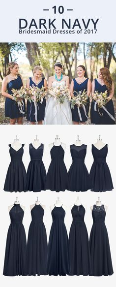 Dress your bridesmaids in this somber navy blue! Available in sizes 0-30 and free custom sizing! Every woman deserves their dream dress, that fits right while still being budget friendly! I Photos by Alicia Lucia Photography