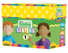 Daily Reading Comprehension Centers, Grade 1 - Classroom Resource Kit:  Available for Grades 1, 2 & 3. Each kit includes 36 ready-made folder centers, Spiral bound teacher's guide & 20 student response booklets all in a sturdy storage box that fits easily on a shelf. Evan-Moor.com/drccent