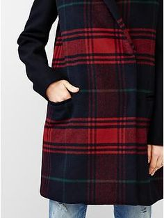 pretty plaid coat | Gap