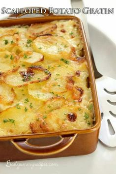 Homemade scalloped potato