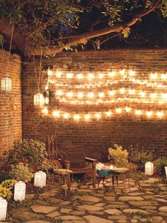 Create a Wall of Light with Patio String Lights