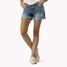 Shoppen Sie Shorts In Boyfriend-passform und erkunden Sie die Tommy Hilfiger…