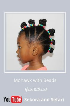 Mohawk With Beards Hair Tutorial For Girls Chic African Hairstyles - kids hairstyles tutorial korean hairstyles tutorial Cute Little Girl Hairstyles, Baby Girl Hairstyles, Natural Hairstyles For Kids, Kids Braided Hairstyles, African Hairstyles, Korean Hairstyles, Summer Hairstyles, Hair And Beard Styles, Curly Hair Styles