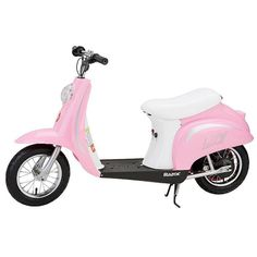 Buy Razor Pocket Mod Miniature Euro Electric Kids Ride On Retro Scooter, Pink at Wish - Shopping Made Fun Scooter 50, Retro Scooter, Kids Scooter, Scooter Girl, Scooter Scooter, Scooter Parts, Girls Electric Scooter, Razor Electric Scooter, Kid Playroom