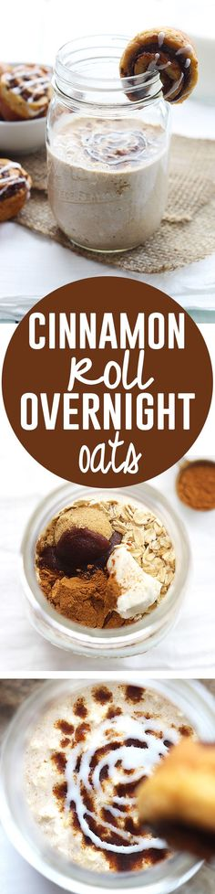 Cinnamon Roll Overnight Oats - A great fall dessert