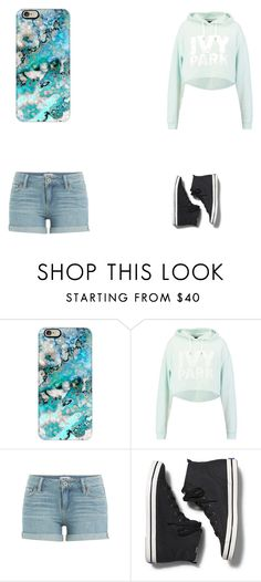 """Untitled #159"" by lovebunniesforever ❤ liked on Polyvore featuring Casetify, Ivy Park, Paige Denim and Keds"