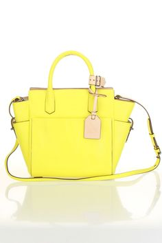 Reed Krakoff Mini Atlantic Tote In Solar - strangely this lemon yellow is doing something for me, must be because I miss the sun