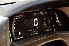 Audi Quattro 2014 Concept. Resembles motorcycle instrument cluster layout