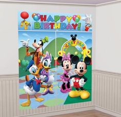 Amazon.com: Disney Mickey Mouse Scene Setter Decoration Set (Blue/Green) Party Accessory: Toys & Games