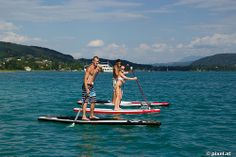 Stand Up Paddling Stand Up Paddle Board, Seen, Boat, Slovenia, Canoe, Travel Advice, Italy, Vacation, Summer