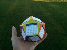 Create your own unique 3D calendar for 2015. Each month comprises a face of the dodecahedron in this fun DIY kit.