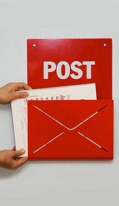Post rack // great for outgoing mail or as a magazine holder