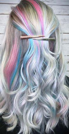 Hair Dying Chalk Pelo Multicolor, Light Pink Hair, Belle Beauty And The Beast, Hair Affair, Aqua, Hair Images, Crazy Hair, Rainbow Hair, Hair Today