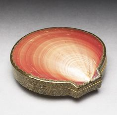 lacquered shell incense box, japan 1800s