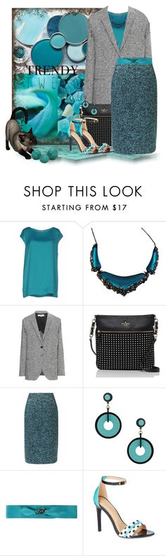 """""""Teal Tweed"""" by loveroses123 ❤ liked on Polyvore featuring Roberto Collina, Alexis Bittar, STELLA McCARTNEY, Kate Spade, Precis Petite, Topshop and LIU•JO"""
