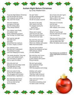 Autism Night Before Christmas