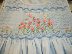 New boutique design hand embroidered smocked by CiaoBebeBoutique Smocking Tutorial, Smocking Patterns, Smocking Plates, Dress Patterns, Baby Frocks Designs, Art Smock, Cute Outfits For Kids, Toddler Outfits, Boutique Design