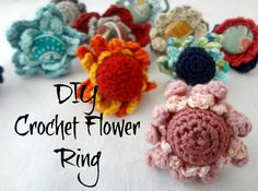 DIY #crochet flower ring free tutorial