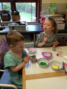 Easter fun! #paintingeggs #fun #eggs