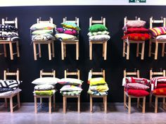 display inspiration?  chair & cushion display at ikea coventry