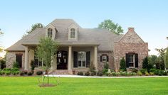 Plan 56367SM: Roomy French Country Home Plan