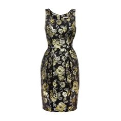 Uttam Boutique Black Baroque floral dress