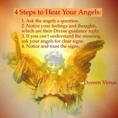 4 Steps to Hear Your Angels ~ Doreen Virtue