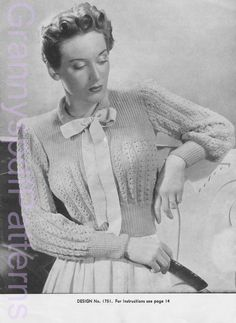 1940s Vintage PDF Knitting Patterns PDF by GrannyspdfPatterns