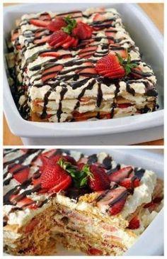 No-Bake Strawberry Icebox Cake