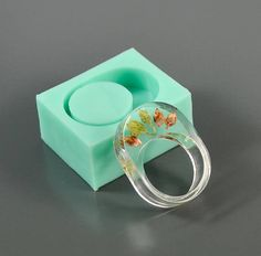 Ring silicone mold US size 7 inside diameter 17.35 mm