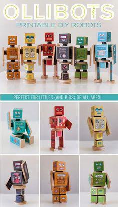 The Parker Project: Ollibots - DIY Wooden Robots
