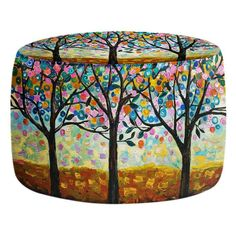 Ottomans - Prop up your feet or rest your tush with a cushy Ottoman by DiaNoche Designs.  Match your area rug, blanket or couch pillows to your new living room accessory.  Choose a square or round style  Bean bag style Ottoman Ottoman has removable cover with zip closure Machine washable Dye Sublimation printing adheres the ink to the material for long life and durability Made in USA