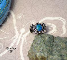 Кольцо Хризоколла – купить в интернет-магазине на Ярмарке Мастеров с доставкой