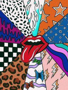 paintings canvas easy simple painting bedroom trippy patterns aesthetic cartoon wallpapers hippie pastel mine
