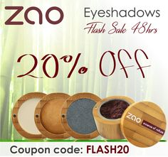 Sale time!! The most beautiful natural pigments to enhance your eyes! Hurry it only last 48 hours!  #ZaoOrganicMakeup #Makeup #MakeupSale #CouponCode #OrganicMakeup #GreenBeauty