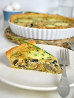 Quiches, Kitchen Recipes, Cooking Recipes, Eggplant Dishes, Vegetarian Recipes, Healthy Recipes, Veggie Dinner, Quiche Lorraine, Chicken Salad Recipes