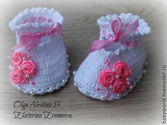 Купить пинетки Принцесса - пинетки, пинетки для новорожденных, для девочки, детская обувь, на выписку, на выписку из роддома ♥♥