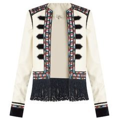 Talitha Zoya-embroidered wool-gabardine jacket