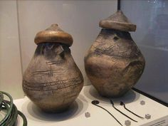 Urns of the Hallstatt Culture, 800-450 BC, early Iron Age, central Europe