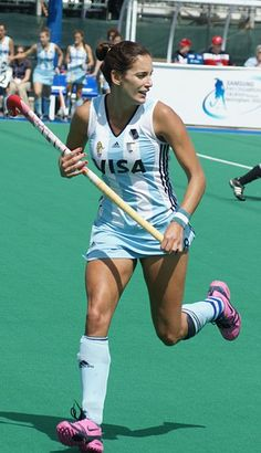 Luciana Aymar, Capitana de Las Leonas, siete veces escogida Mejor Jugadora del Mundo.