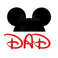 "INSTANT DOWNLOAD Printable Mickey Mouse ""Dad"" Iron On Transfer. Only $2.00. Perfect for your Disney World or Disneyland Trip!"