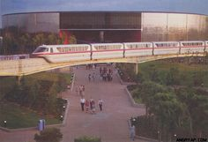 I don't know about you but I could look at vintage EPCOT Center pictures all day long! A side view of Spaceship Earth and Earth Station bu. Disney Day, Old Disney, Vintage Disney, Disney Parks, Disney Stuff, Disney World Resorts, Walt Disney World, Epcot Rides, Epcot Center