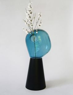 Glass and ceramic vase by Guillaume Delvigne & Ionna Vautrin