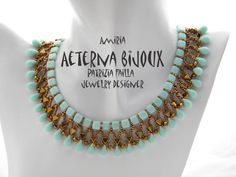 Beading tutorial Amiria, beadwork, bead pattern, bead tutorial, bead instruction, beading pattern, beading instruction, beaded necklace,