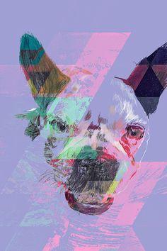 French Bulldog Drawing Digital Wall Art Print by BeepArtsAndCrafts