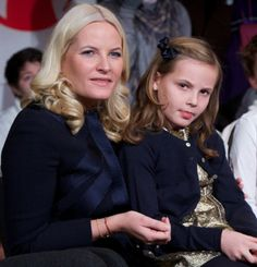 Crown Princess Mette Marit of Norway and her daughter (the future Queen) Princess Ingrid Alexandra of Norway.