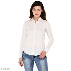 Checkout this latest Shirts Product Name: *Trendy Polyester Casual Women's Shirt* Sizes: S, M, L, XL Country of Origin: India Easy Returns Available In Case Of Any Issue   Catalog Rating: ★4 (452)  Catalog Name: Scarlette Typical Polyester Solid Shirt Vol 2 CatalogID_66534 C79-SC1022 Code: 253-596613-768