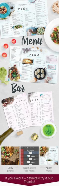 Menu Food and Drinks Template — Photoshop PSD #modern #food • Download ➝ https://graphicriver.net/item/menu-food-and-drinks-template/22060853?ref=pxcr