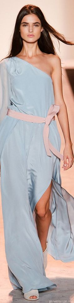 BCBG Max Azria ~ Serenity Gown With A Rose Quartz Sash